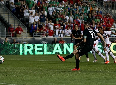 Keanes sees his spot-kick saved.