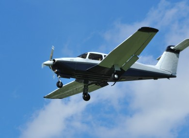 (File photo) Light 4-seater Piper aircraft coming in to land.