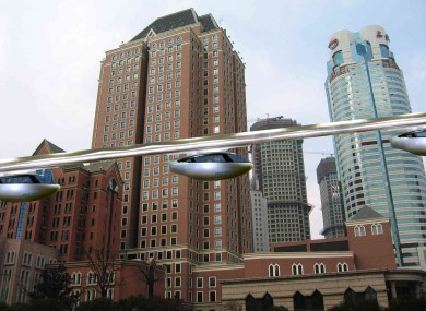 An artist's impression of how skyTran will look.
