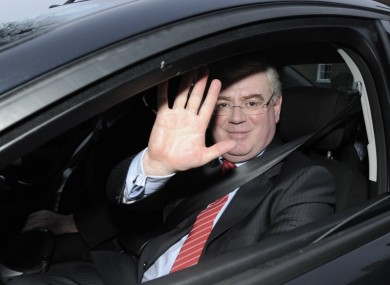 Eamon Gilmore is waving goodbye, but is he on his way to Brussels?