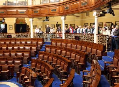 File photo of the public gallery of Dáil Éireann