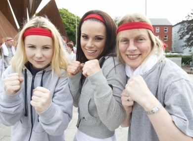 Marlyn Bane, Orla McInerney Francis Doyle from Monivea Boxing Club are organising the Great Rocky Run.