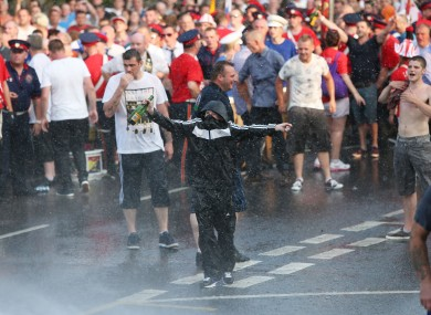 Disorder during last year's Twelfth of July commemorations.