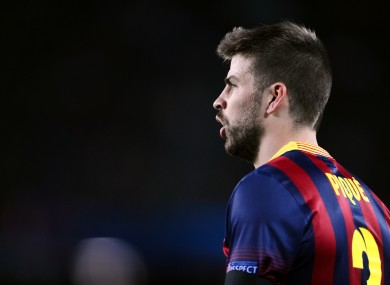 Gerard Pique endured a disappointing season with Barca last year.