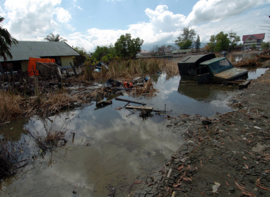 Sumatra, Indonesia after the Tsunami that hit the region Dec 26, 2004.
