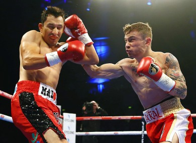Frampton knocked out Hugo Cazares for his 18th straight win earlier this year.