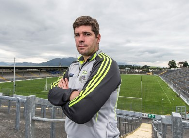 Eamonn Fitzmaurice demonstrates a better way to view Fitzgerald Stadium.