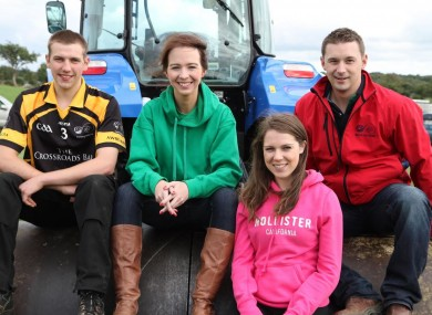 File photo of young Irish farmers and Macra na Feirme members