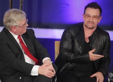Eamon Gilmore likes listening to Bono - do you?