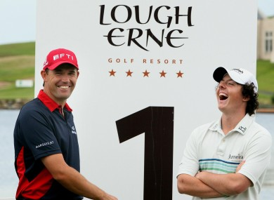 Rory McIlroy says Padraig Harrington's first major win inspired him.