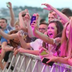 The crowd at the MTV Crashes Derry-Londonderry concert at Ebrington Square.<span class=