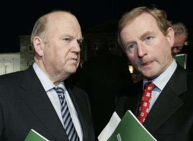 Michael Noonan and Enda Kenny won't say publicly if they favour an independent Scotland (File photo)