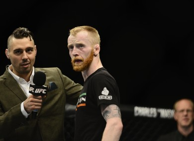 Holohan won on his UFC debut in Dublin.