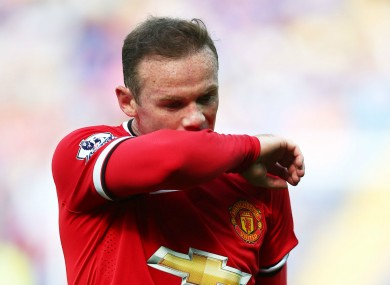Wayne Rooney was not happy with some of his United team-mates.