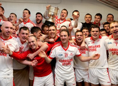 Ballintubber players celebrate after the game.