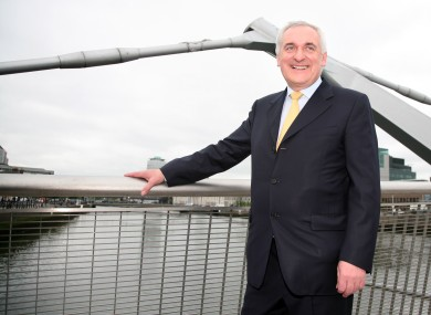 Former Taoiseach Bertie Ahern at the Sean O'Casey Bridge in 2007.