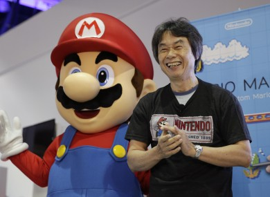 Japanese video game designer Shigeru Miyamoto introducing the Nintendo's Mario Maker at E3 back in June.