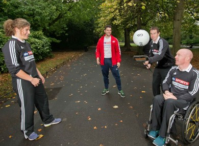Rheinisch, second from right, with the other Sky Sports Living for Sport Athlete Mentors.
