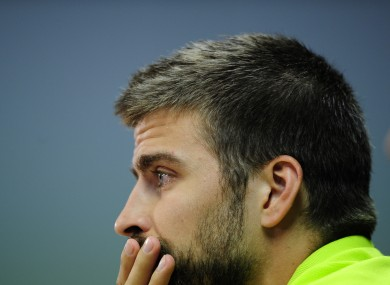 Pique had a strained relationship with Keane during their brief time together at United.