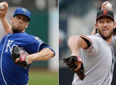 James Shields will take on Madison Bumgarner in game one of the World Series tonight.