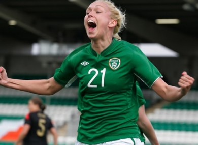 Stephanie Roche scored her wonder goal against Wexford Youths in the Irish Women's National League.