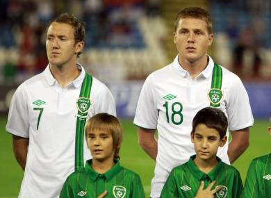 McGeady (right) and McCarthy.
