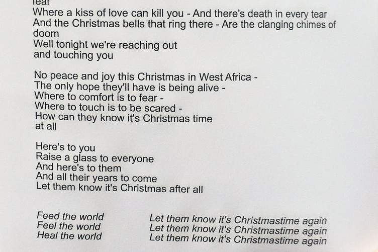This Christmas Lyrics.Here Are The New Lyrics For Band Aid 30 S Feed The World