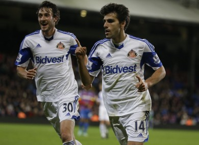 Jordi Gomez and Will Buckley after the winning goal.