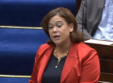 Mary Lou McDonald in the Dáil today