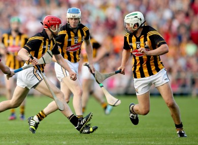 TJ Reid and Tommy Walsh in action during this year's clash between Kilkenny and Galway.