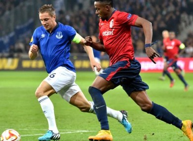 Origi is spending this season on loan with French club Lille.