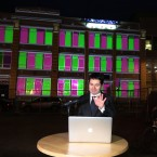Minister Minister Paschal Donohoe TD at a light Show Wolftone Sq in Dublin this evening. <span class=