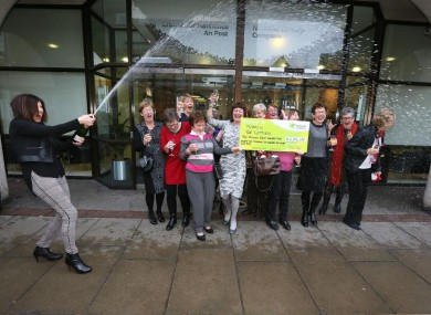 Nice one: 17 nurses from Wexford General Hospital win €2 8