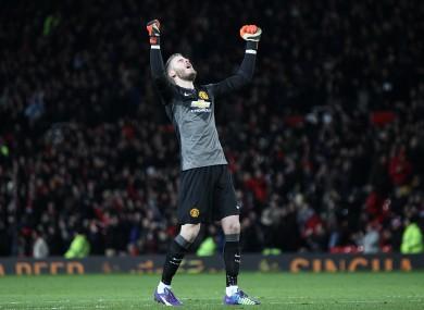 de Gea made a string of superb saves to deny Liverpool.
