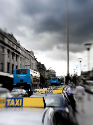 File photo of taxis on O'Connell Street, Dublin.