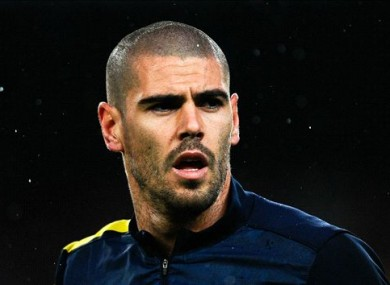 Valdes was announced as a Man United player yesterday.