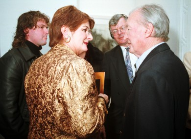 Keane and Haughey pictured together in 1998.