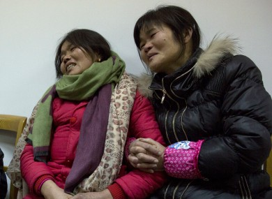 Relatives of Pan Hanqin who was one of the victim of a deadly stampede.