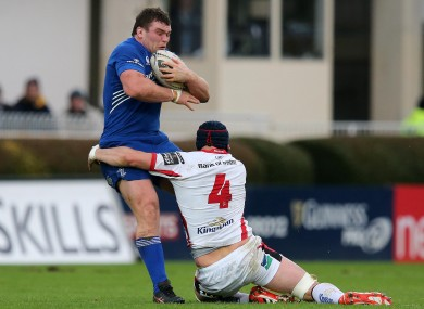 McGrath carries the ball against Ulster on Saturday at the RDS.