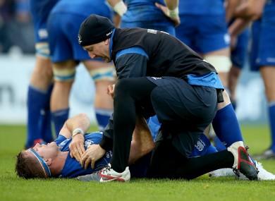 Heaslip suffered a rare shoulder injury against Ulster.
