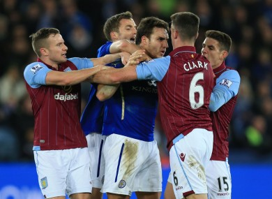 Clark's dismissal capped another miserable afternoon for Villa.