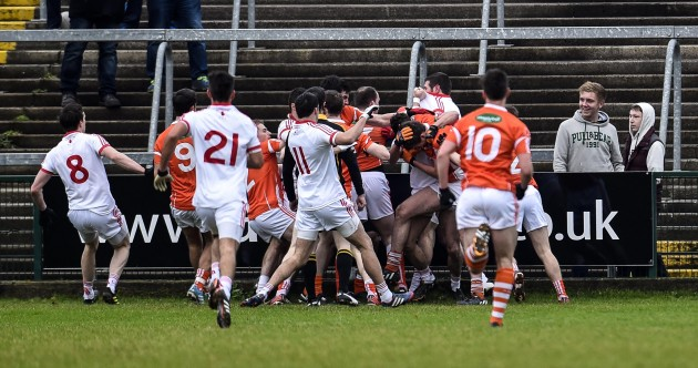 It's only 4 January, and Armagh and Tyrone are already digging each other