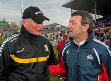 Brian Cody and Jimmy Barry-Murphy will be in opposition next Saturday night.