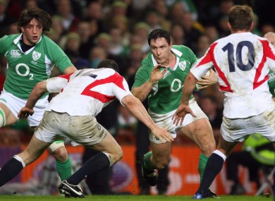 Wallace scored Ireland's second try in the famous 43-13 win.