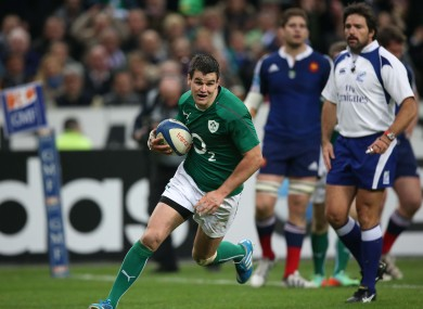 Sexton scored two tries against France last year.