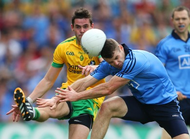Donegal's Odhran MacNiallais and Dublin's Kevin McManamon will be in opposition on Saturday.