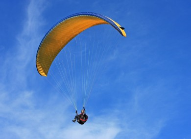 A man bought a voucher for paragliding and was horribly