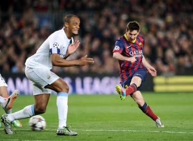 City also faced Barca in the last 16 of the 2013-14 Champions League campaign.