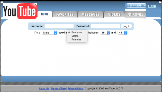 youtube was originally a video dating site
