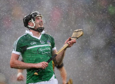 Declan Hannon is centre back for the Limerick hurlers on Saturday night